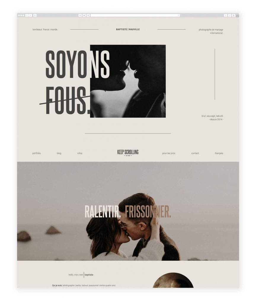 Baptiste Hauville photography website