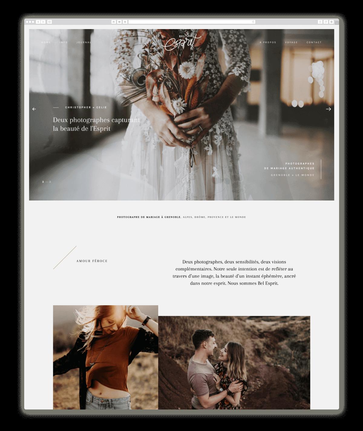 wedding photography website design belesprit.fr