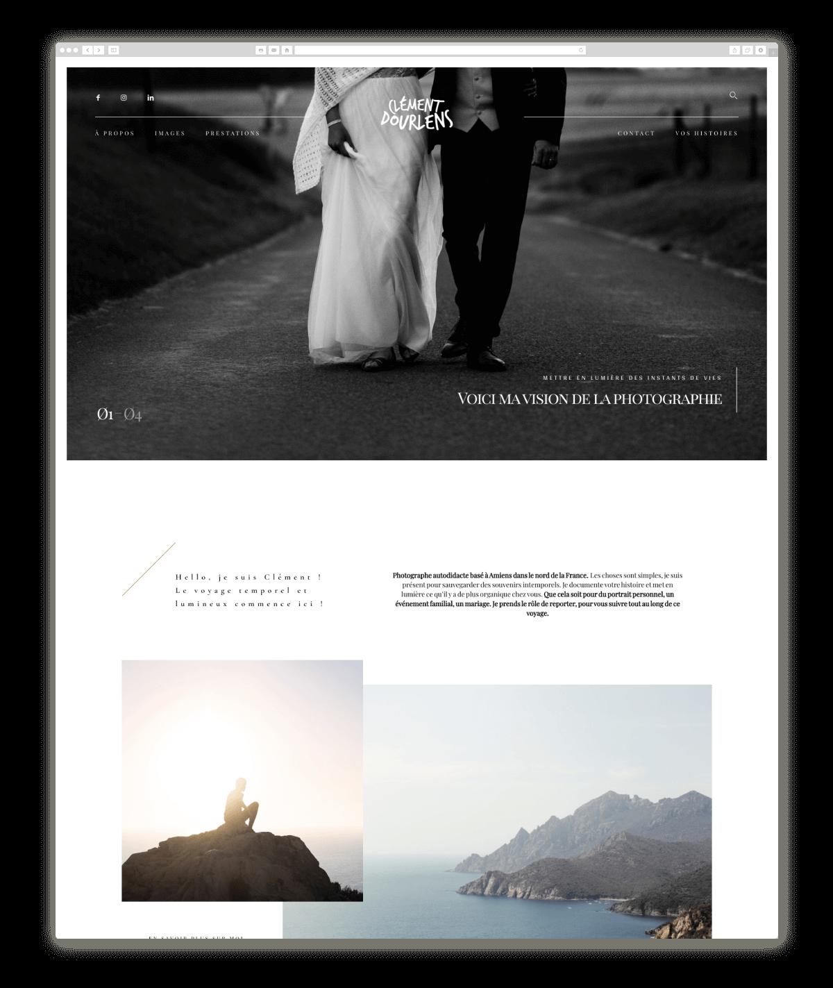 wedding photography website design clementdourlens.com