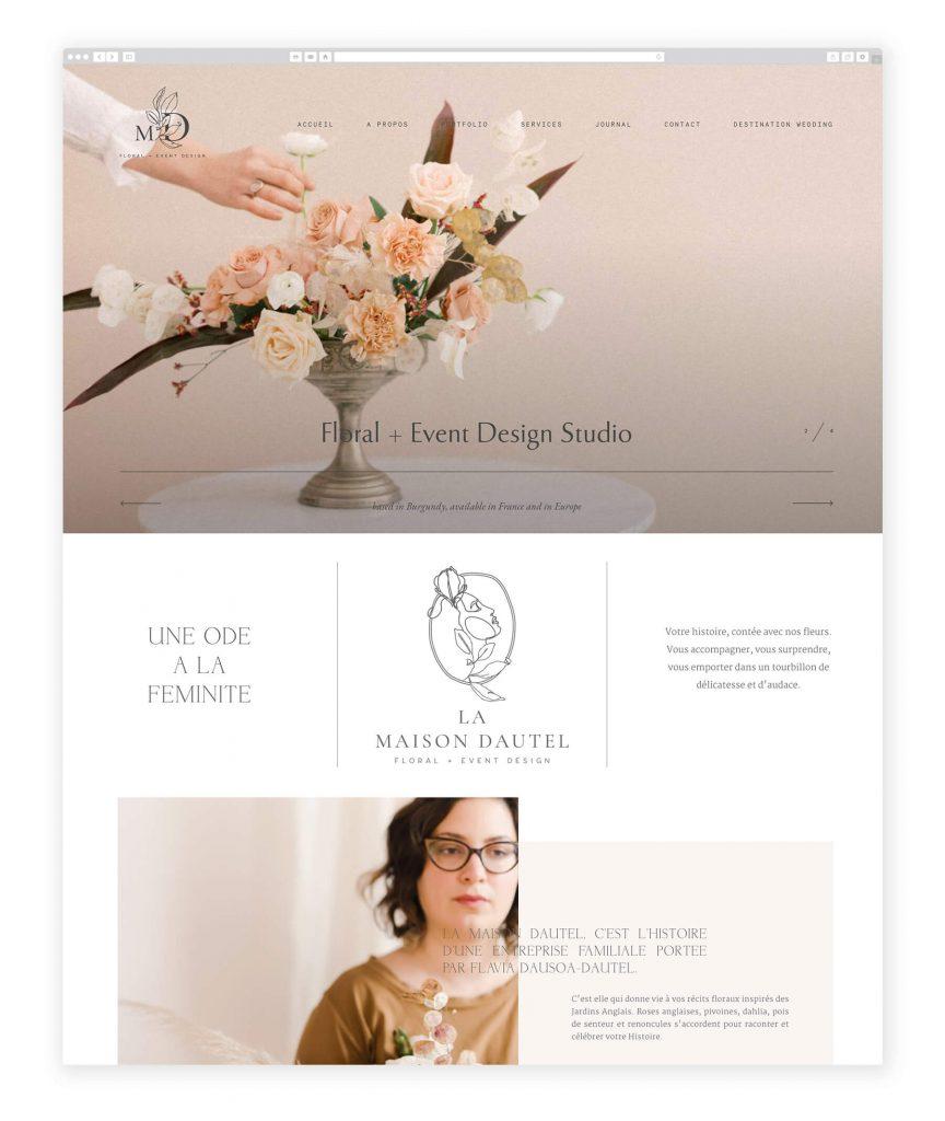 La Maison Dautel floral and event design website