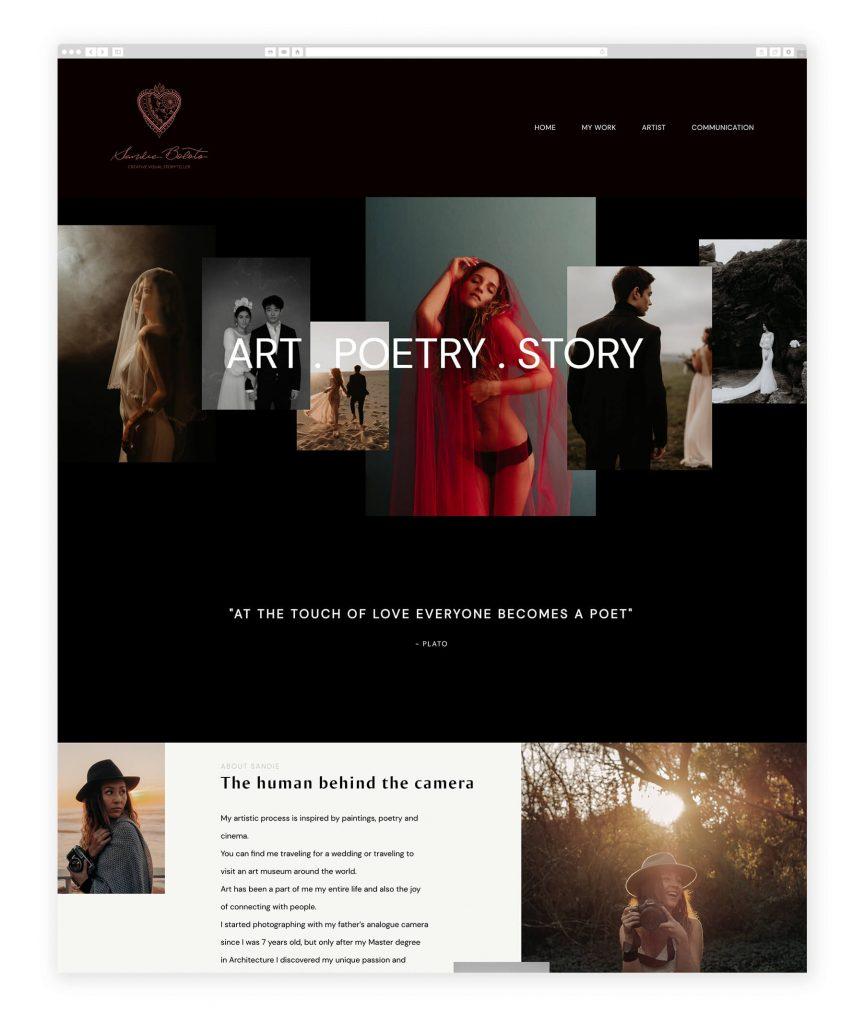 Sandie Boloto photography website