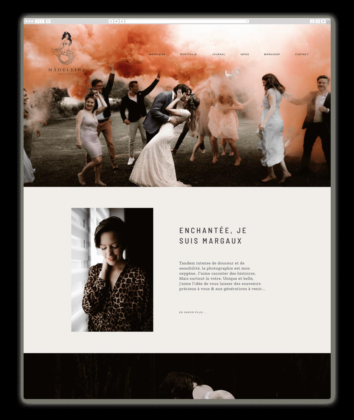 wedding photography website design  studiomadeleine.fr