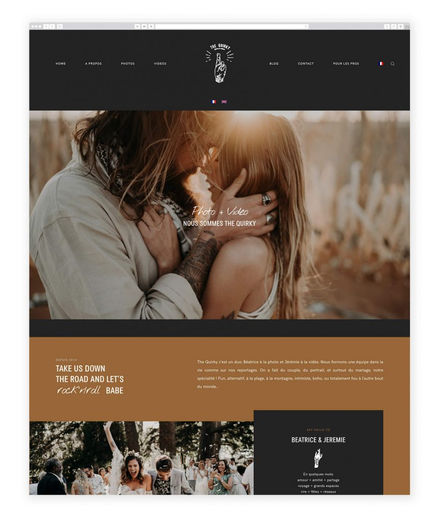 The Quirky photography and videography website