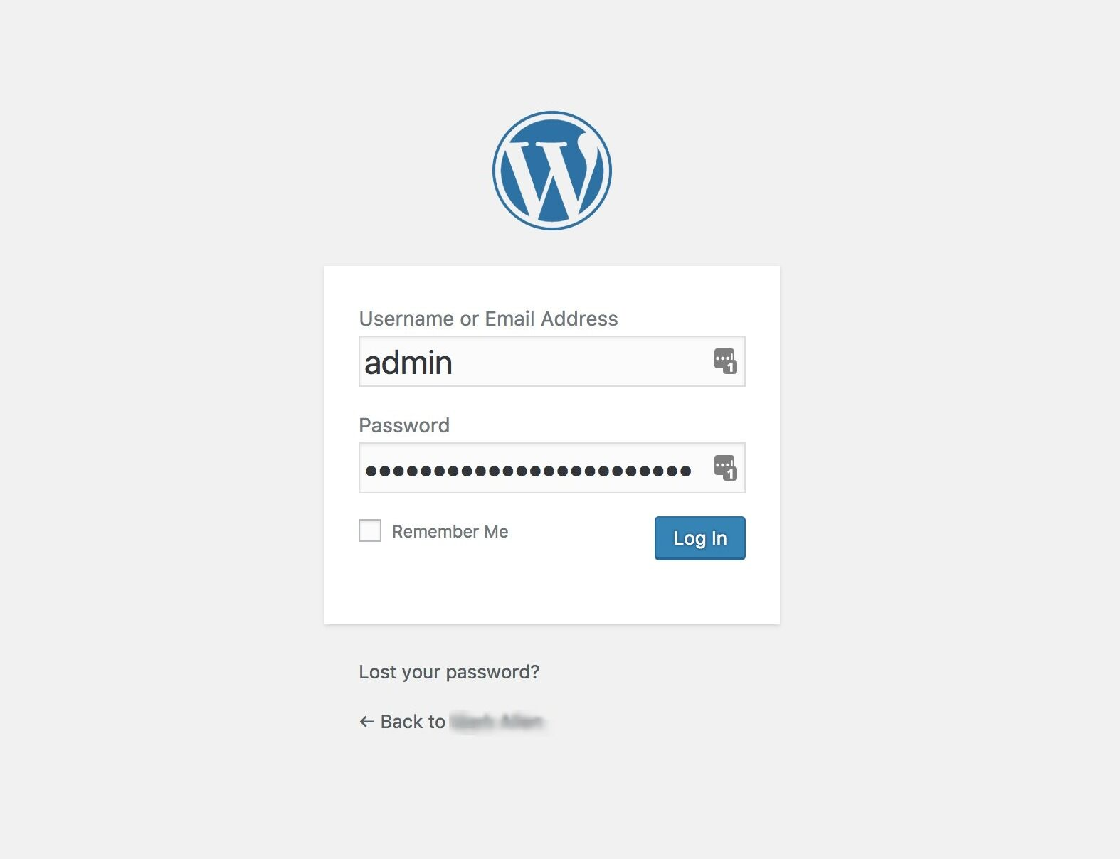 Day 3 from 7 Days of wordpress, Logging into WordPress
