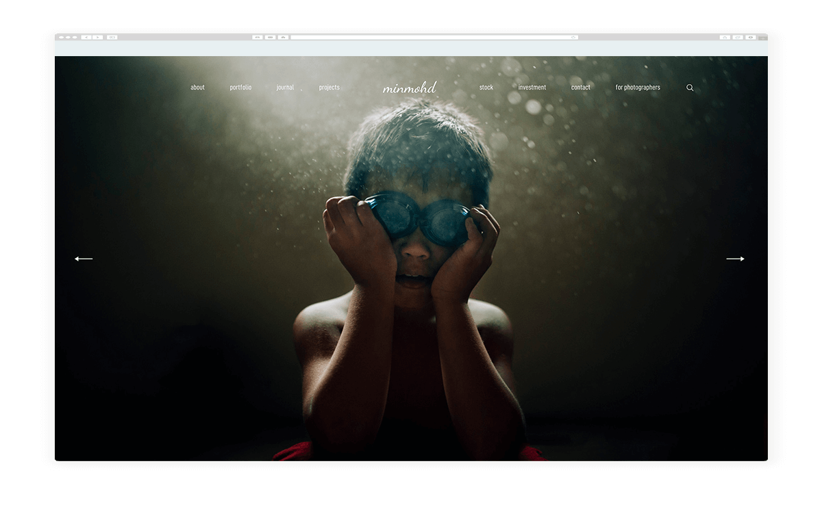 15 amazing photography website built with Fiji theme, min mohd photography