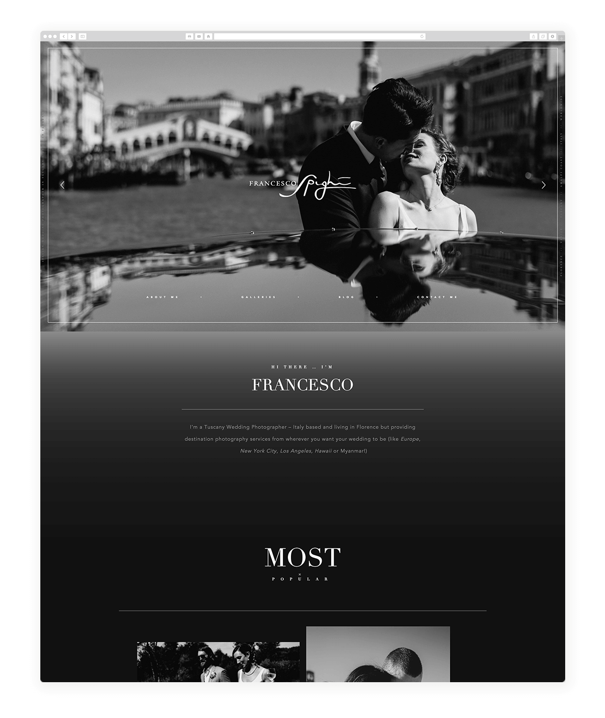 dark website design, photography-examples-flothemes, Francesco Spighi