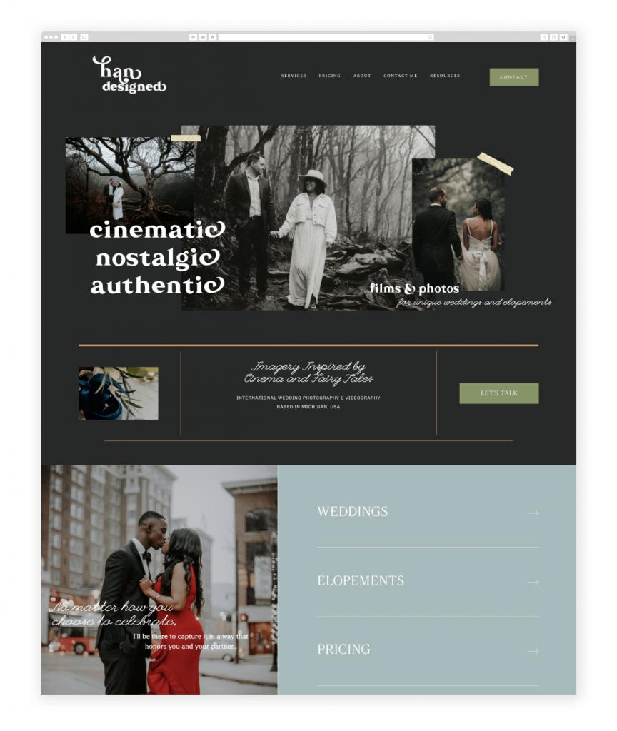 han-designed-videography-website