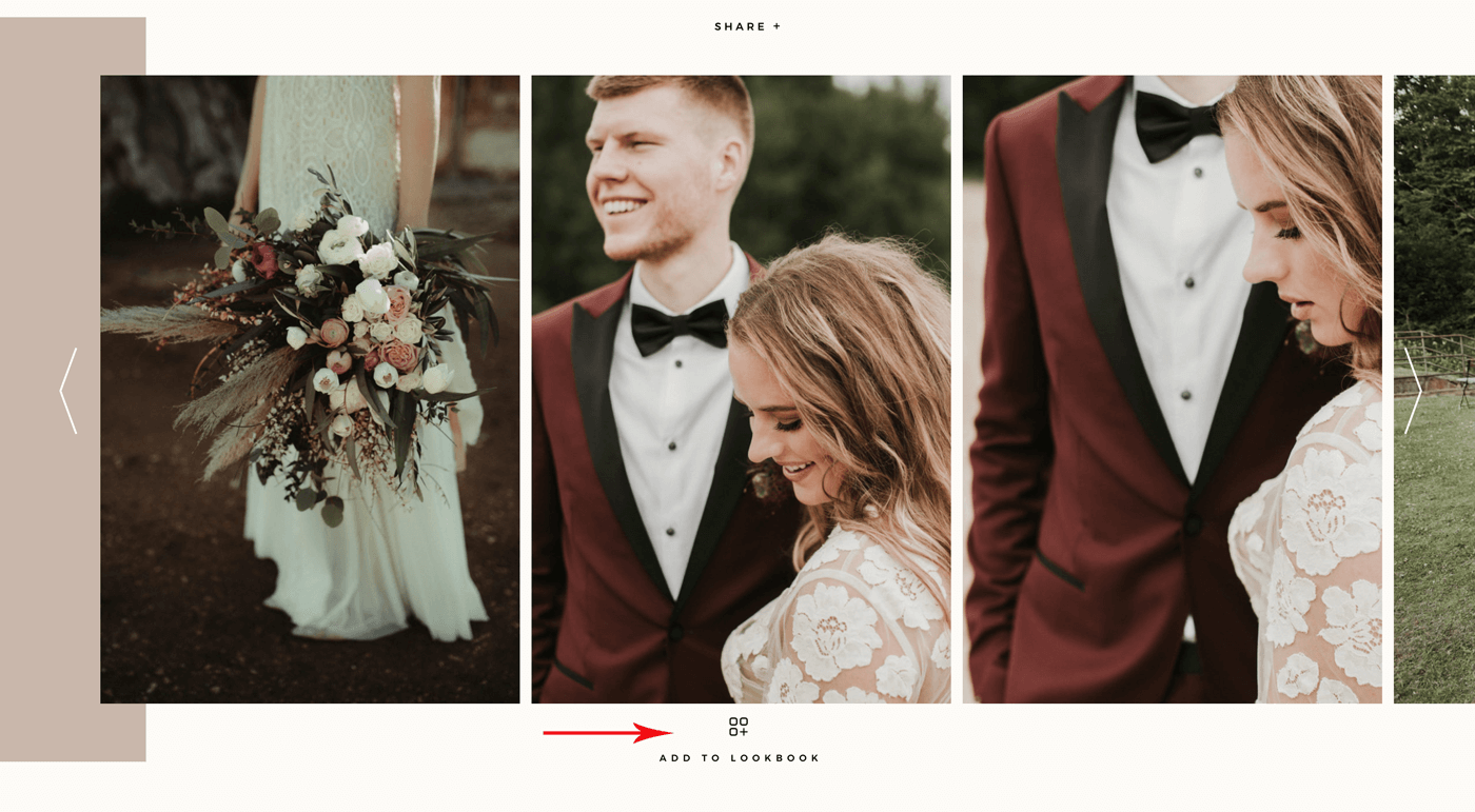 Narcisse weddinh photography website design Miks Sels photography, Lookbook option