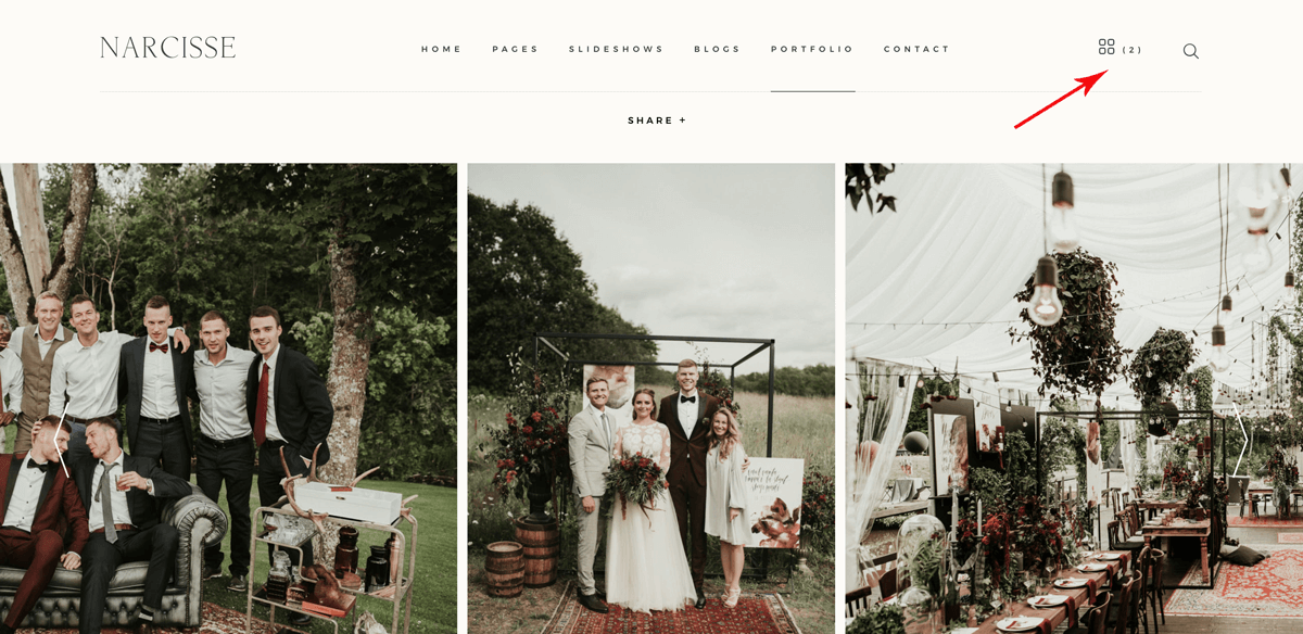 Narcisse weddinh photography website design Miks Sels photography, Lookbook option, rustic outdoors wedding