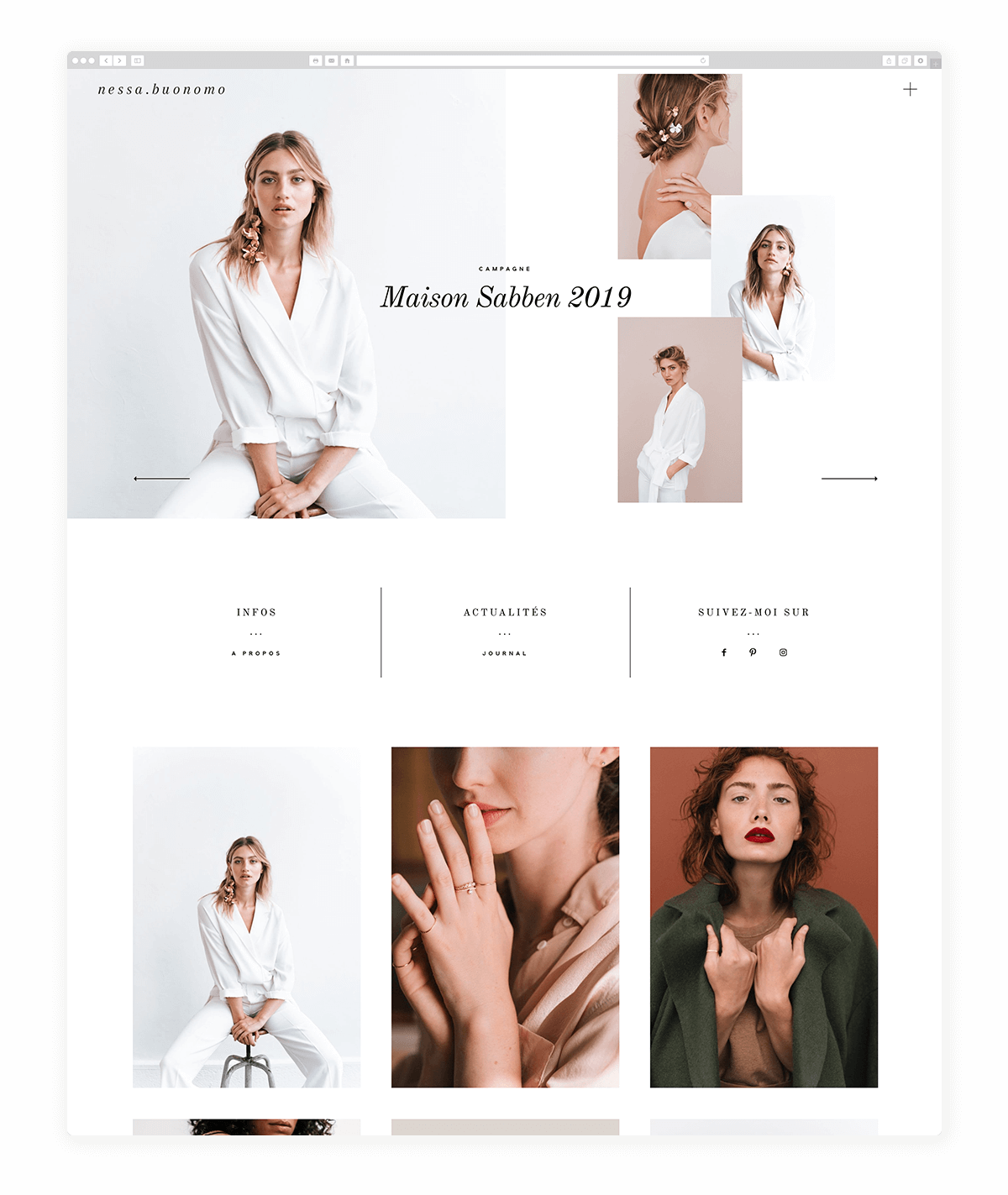 11 Fantastic photography websites built with Narcisse- nessa buonomo