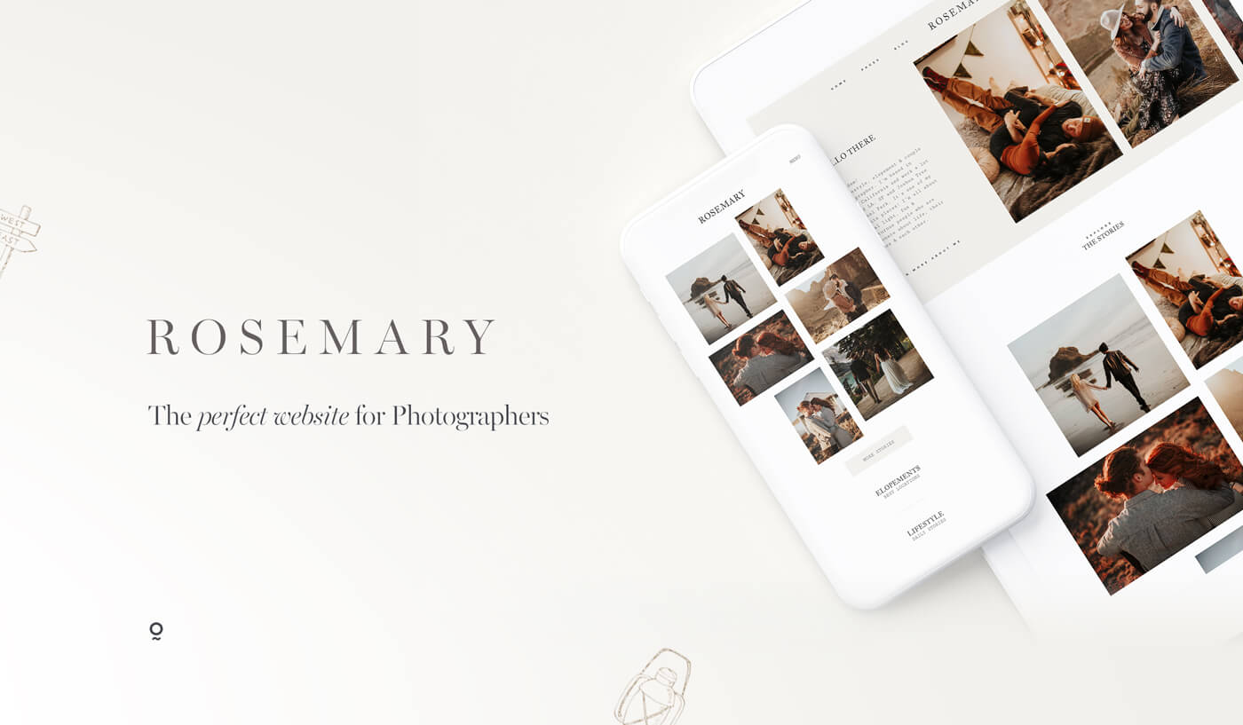 Rosemary website design for photographers