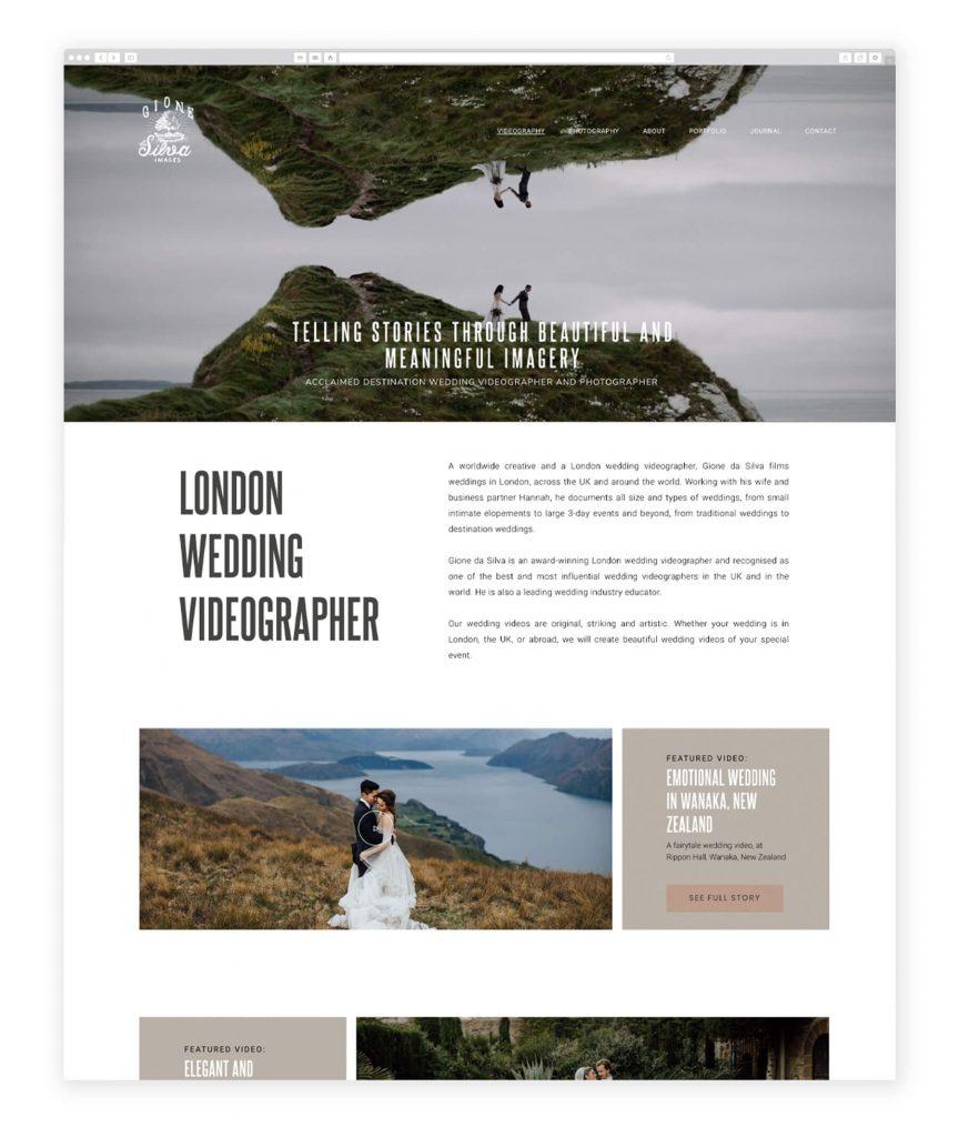 Gione da Silva UK videography website