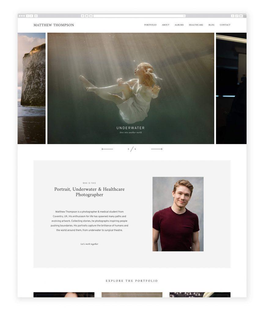 Matther Thompson UK photography website
