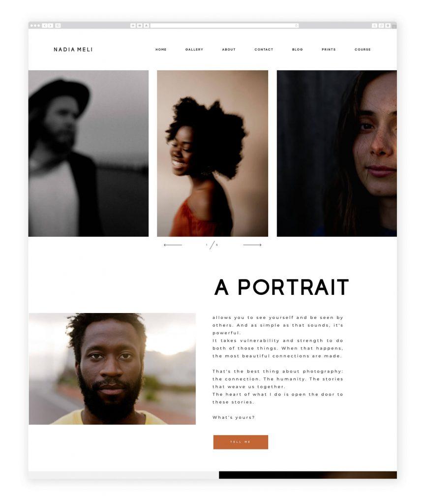 Nadia Meli UK photography website