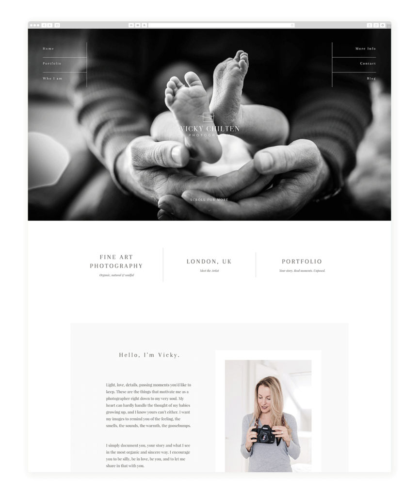 Vicky Chilten maternity photography website
