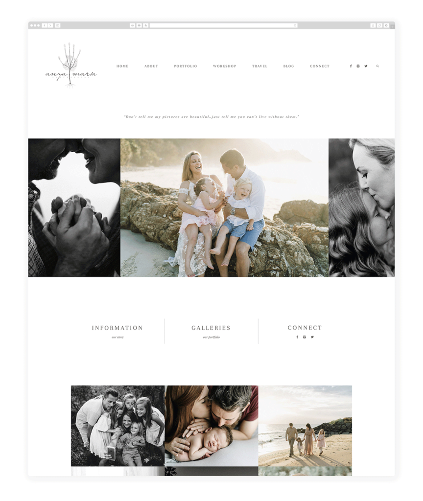 Anya Maria maternity photography website