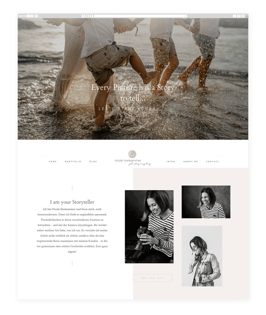Nicole Hankammer family photography website