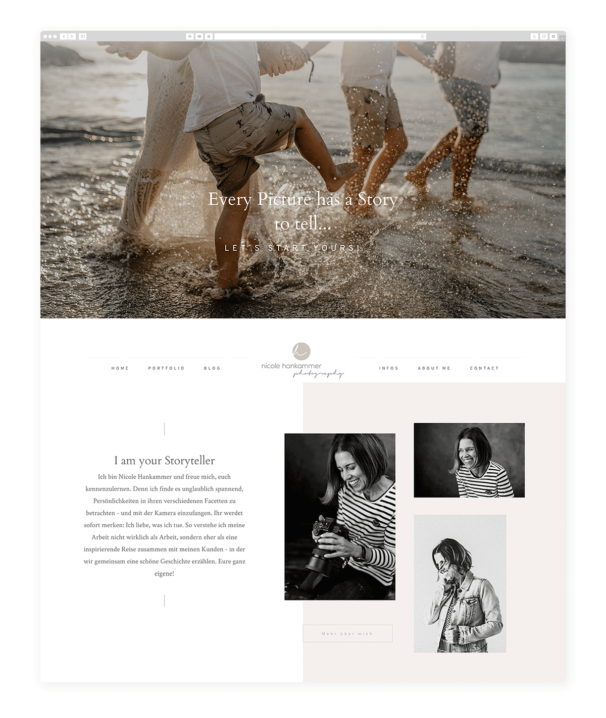 Stunning Websites built by Family, Kids, Newborn & Maternity Photographers- EVORA-nicole-hankammer.com
