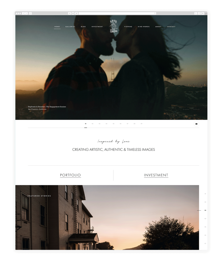 Custom Websites Designed by Flothemes - A girl and a camera photography