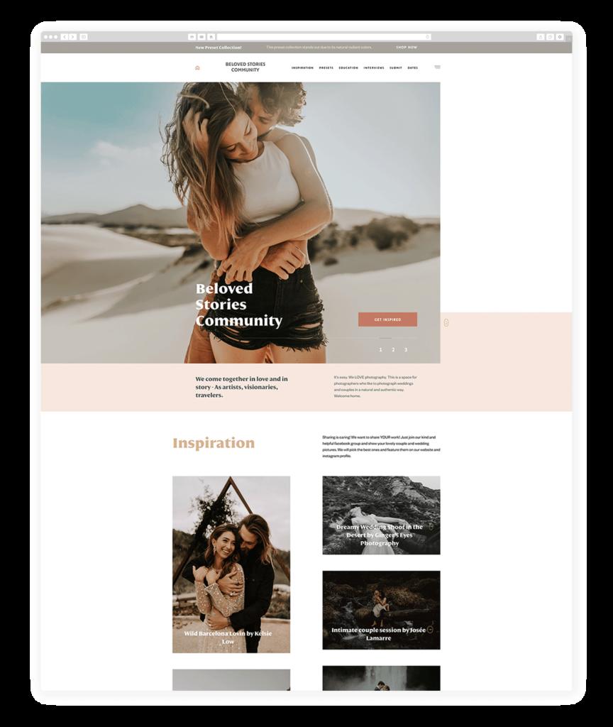 Custom Websites Designed by Flothemes - Beloved Stories