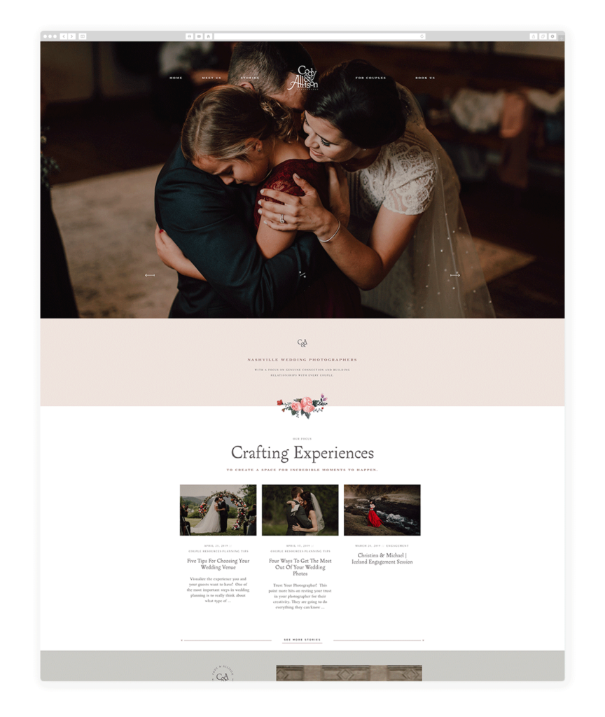 Custom Websites Designed by Flothemes - Cody & Allison Photography