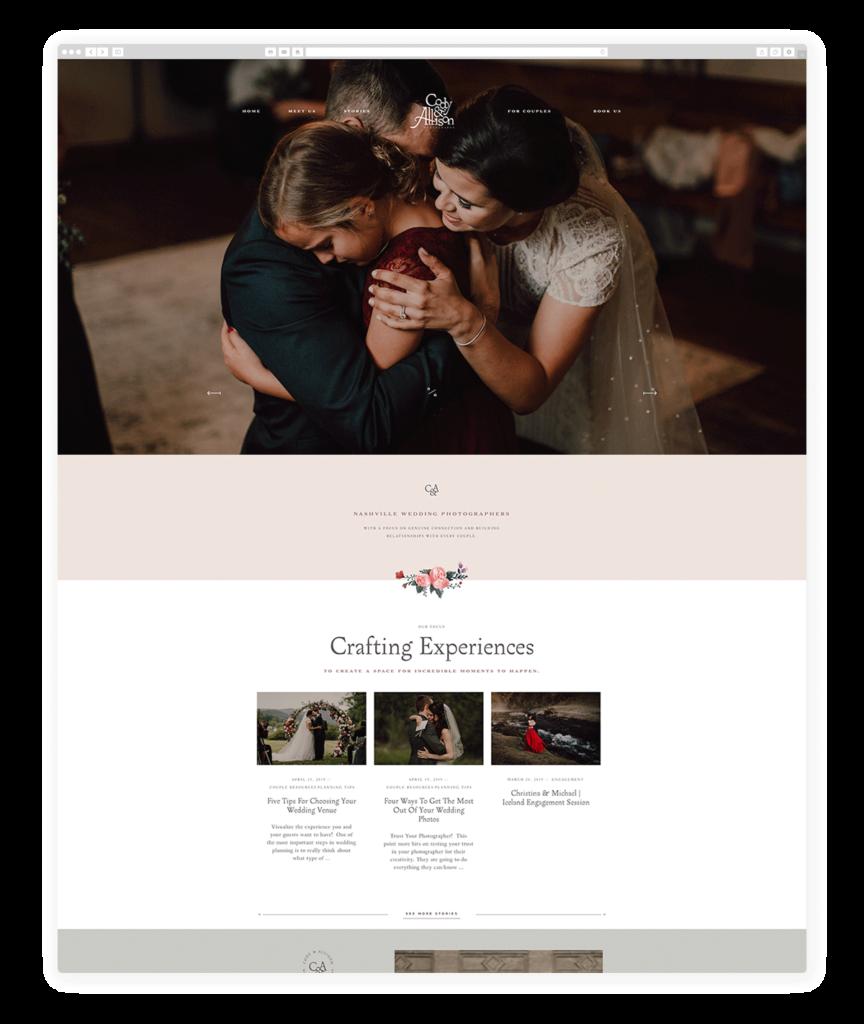 Custom Websites Designed by Flothemes - Cody & Allison Photography
