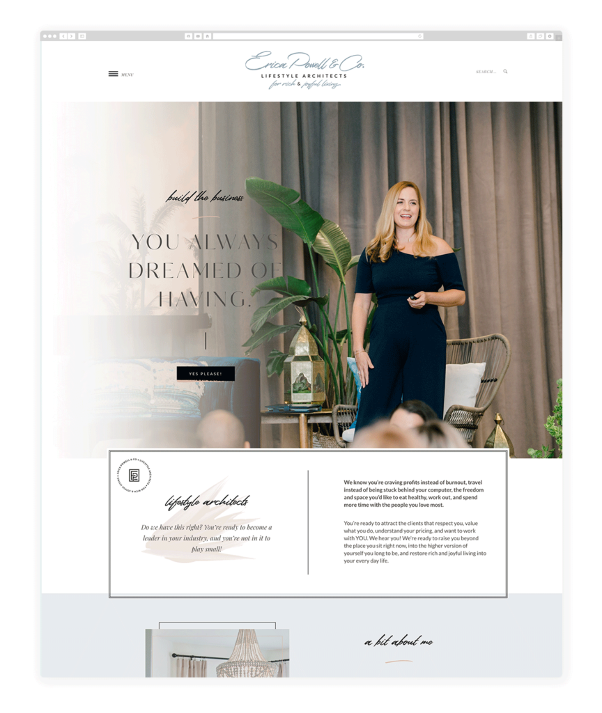 Custom Websites Designed by Flothemes - Erica Powell & Co