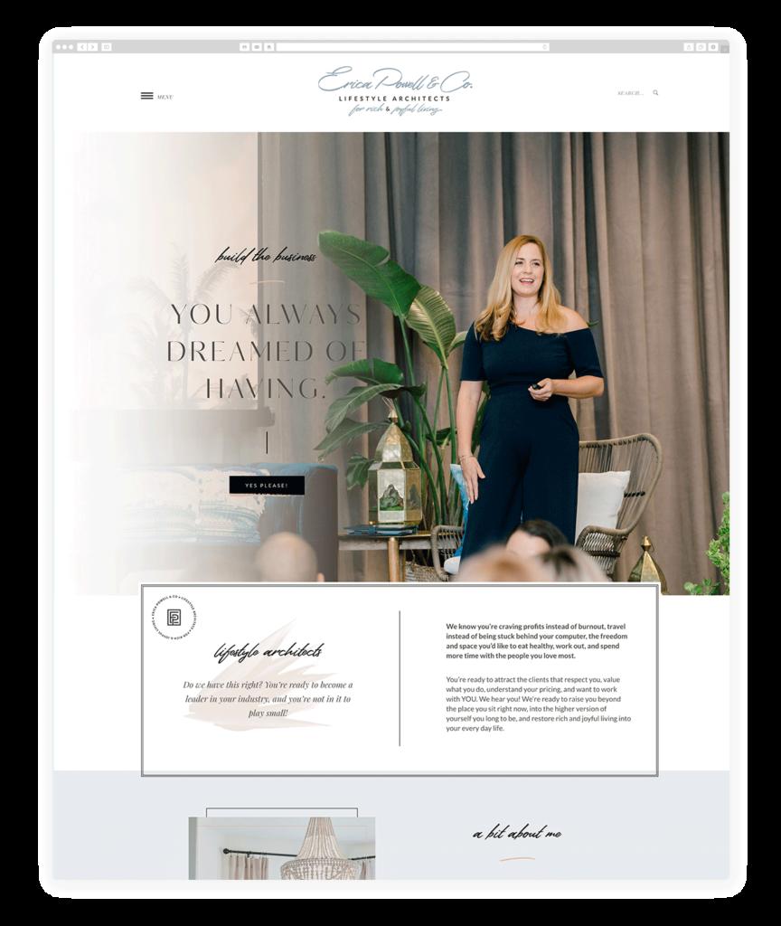 Custom Websites Designed by Flothemes - Erica Powell & Co
