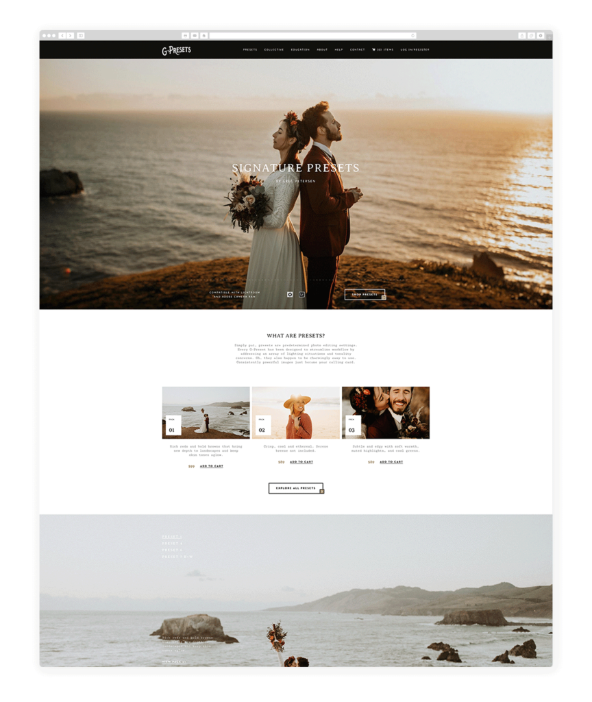 Custom Websites Designed by Flothemes - G Presets