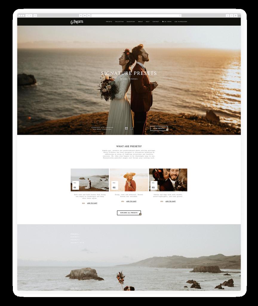 Custom Websites Designed by Flothemes - G Presets