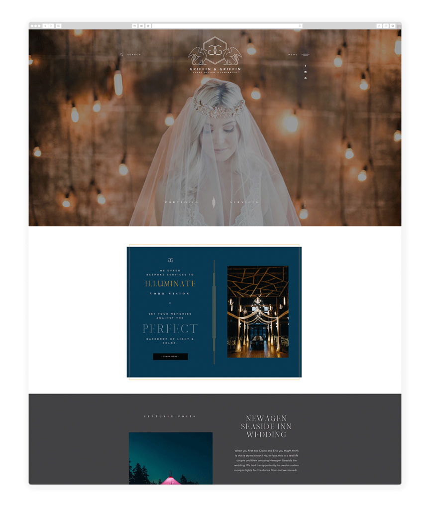 Custom Websites Designed by Flothemes - Griffin & Griffin Event Illuminated