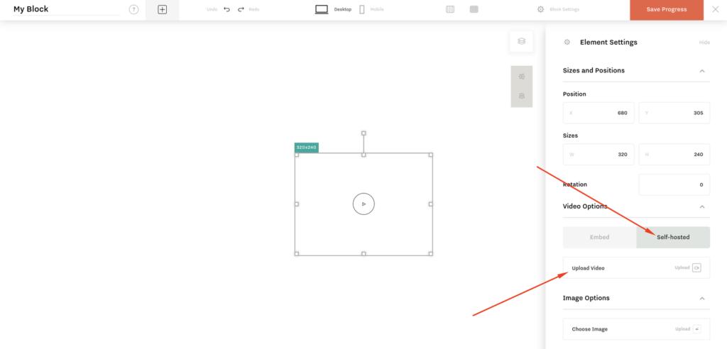 FlexBlock v.1.2. Self hosted video functionality