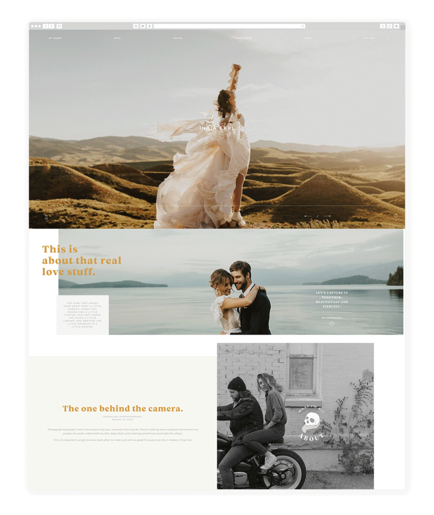 Custom Websites Designed by Flothemes - India Earl