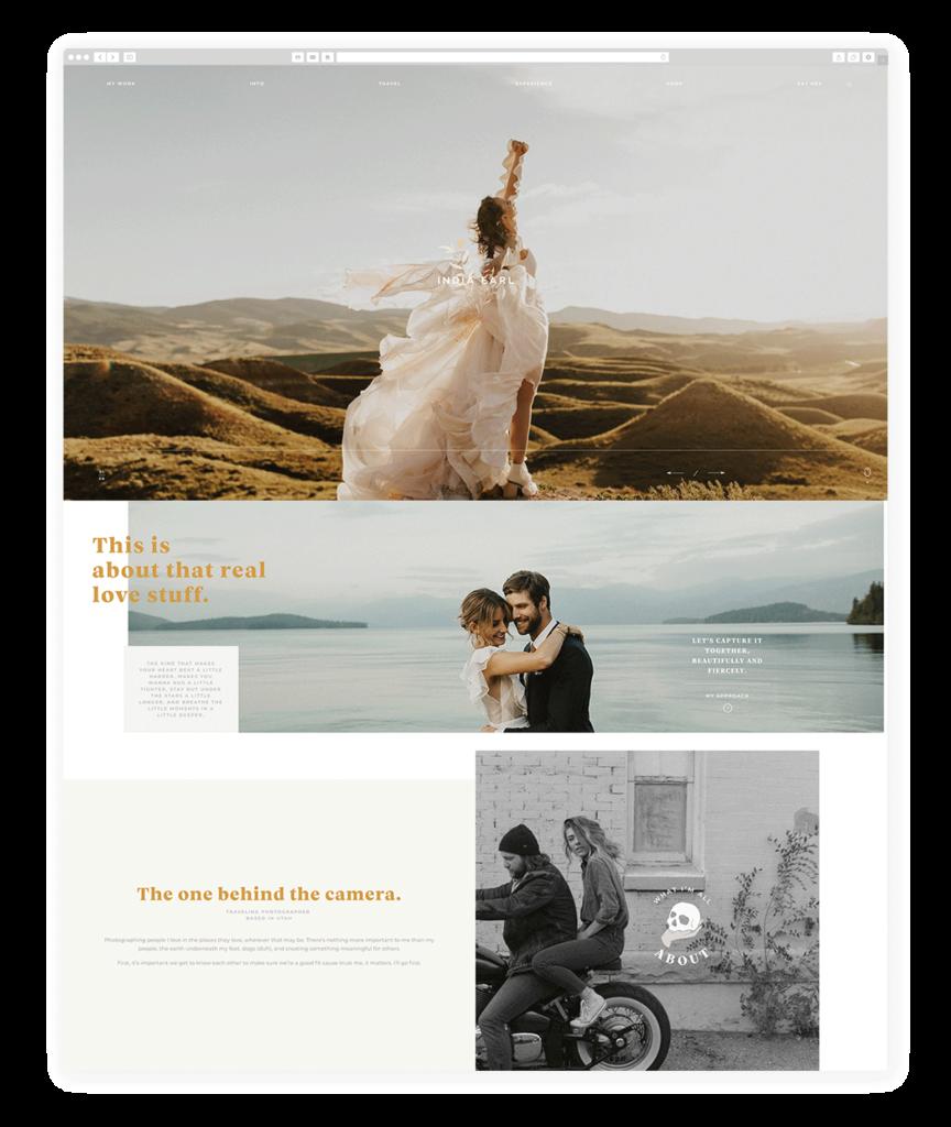 Custom Websites Designed by Flothemes - India Earl