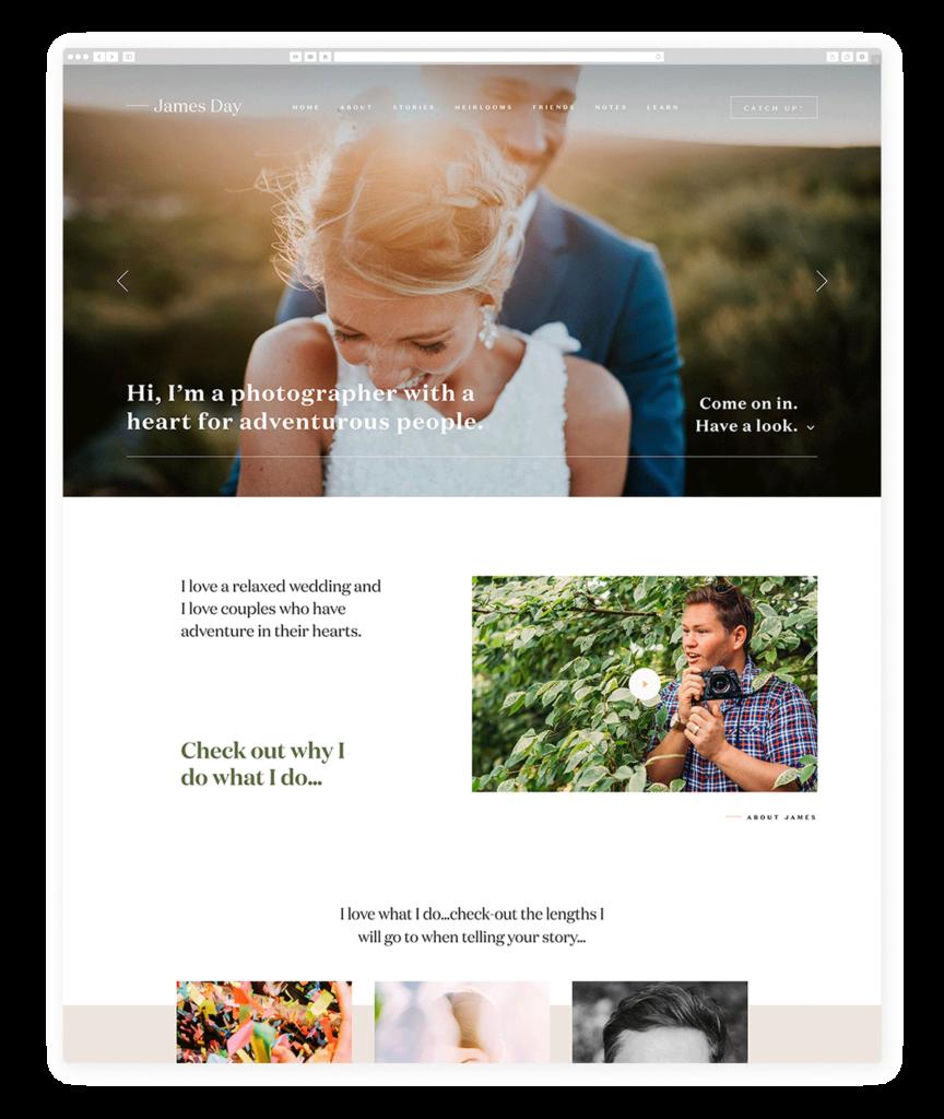 Custom Websites Designed by Flothemes - James Day