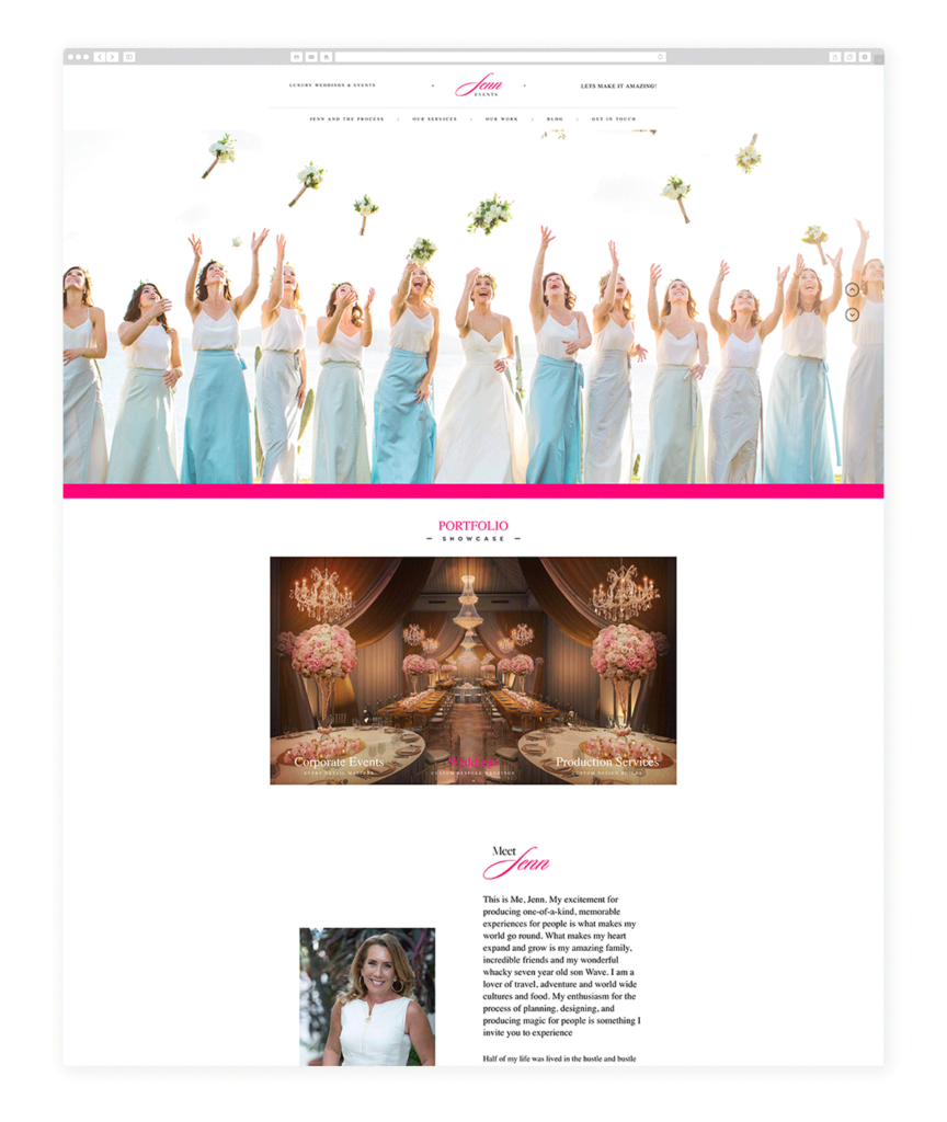 Custom Websites Designed by Flothemes - Jenn Events