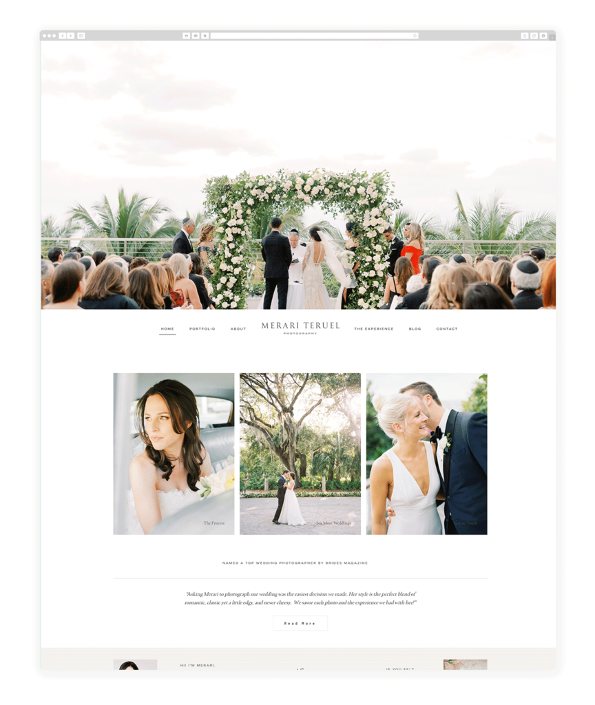 Custom Websites Designed by Flothemes - Merari photography
