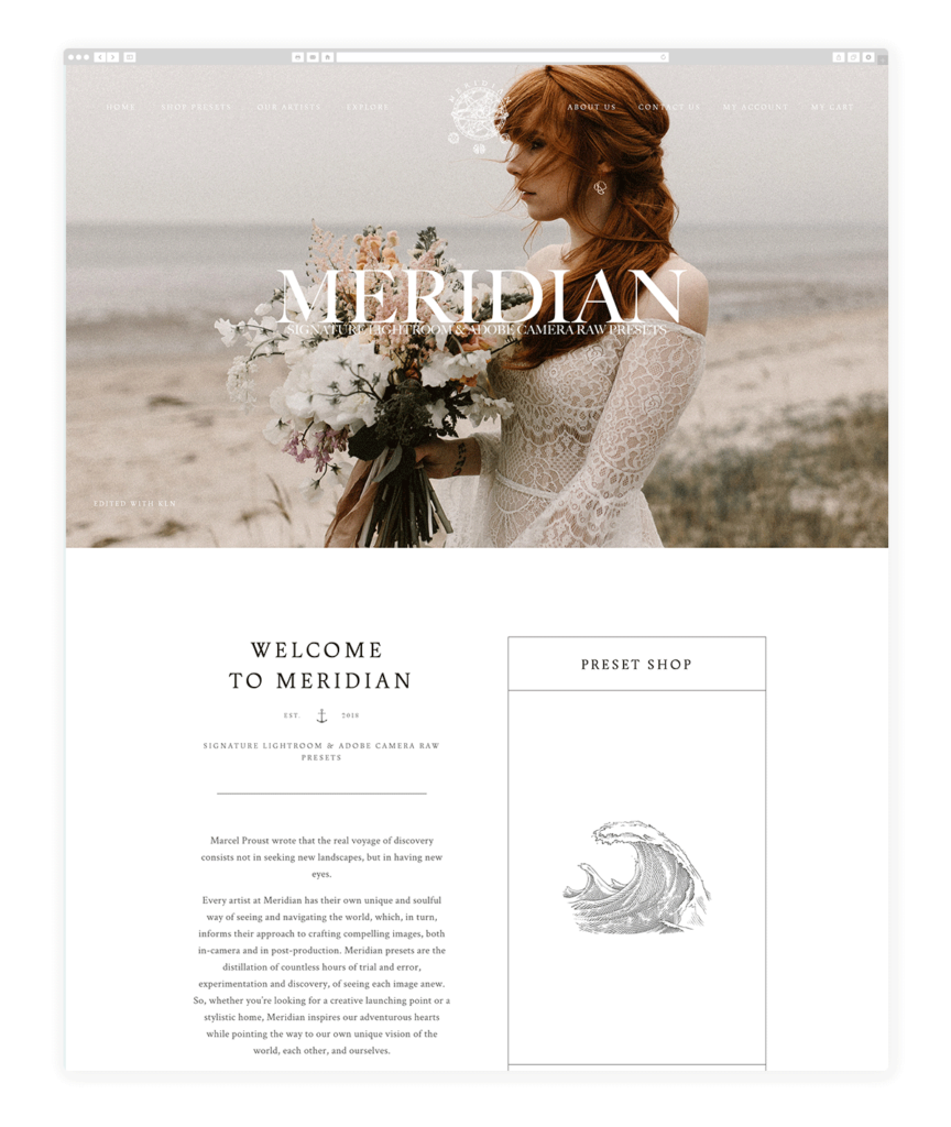 Custom Websites Designed by Flothemes - Meridian Presets