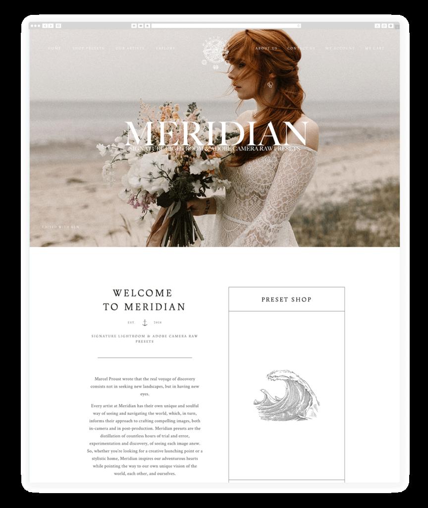 Custom Websites Designed by Flothemes - Meridian Presets