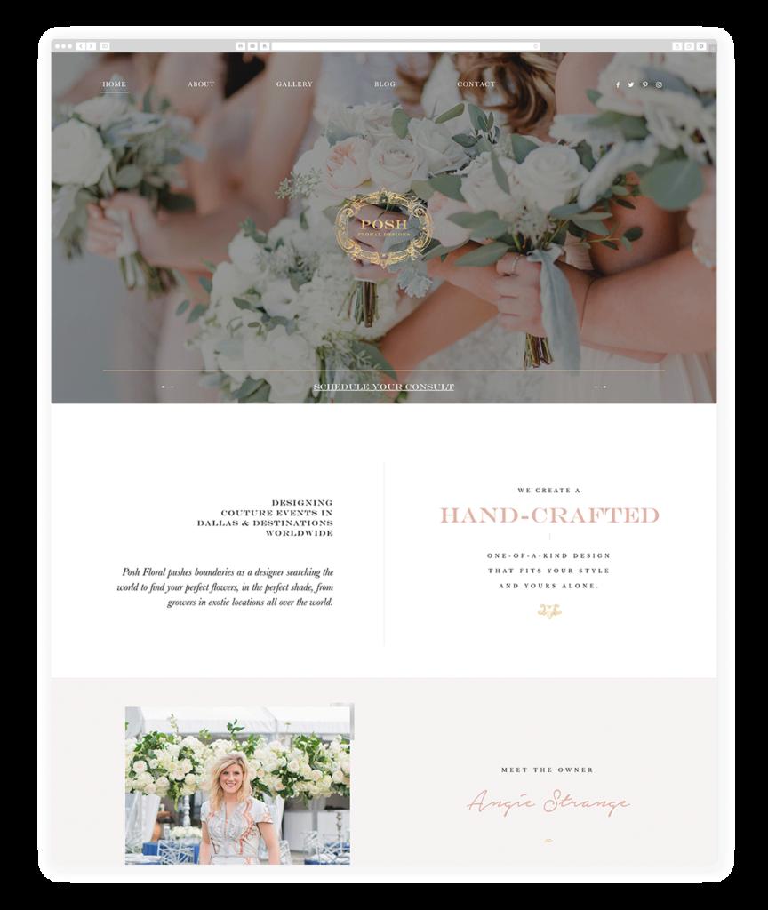 Custom Websites Designed by Flothemes - Posh Floral Design