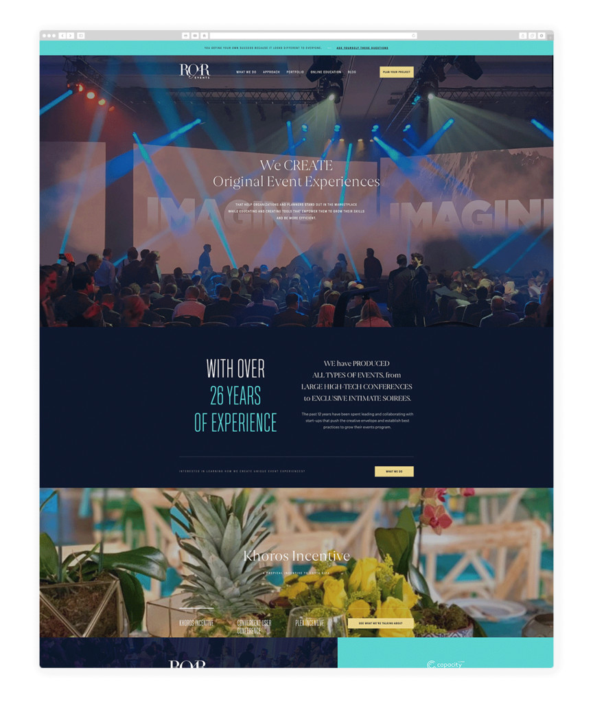 Custom Websites Designed by Flothemes - ROAR Events
