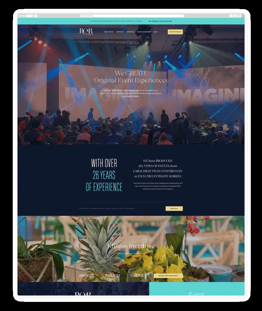 Custom Websites Designed by Flothemes - ROAR Events