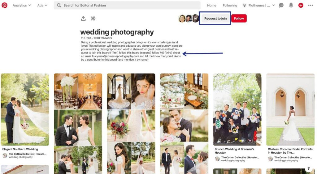 join a group board on Pinterest, Marketing tips for photographers