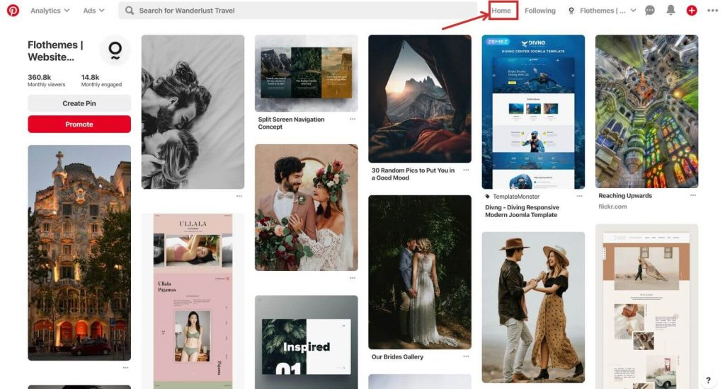 Smart feed on Pinterest, marketing tips and tricks for photographers