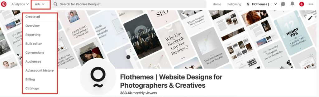 advertising on pinterest, marketing tips for photographers