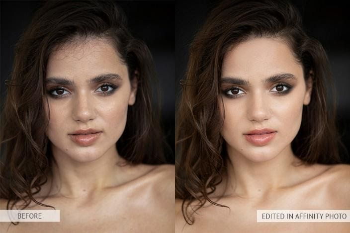 Affinity Photo before after