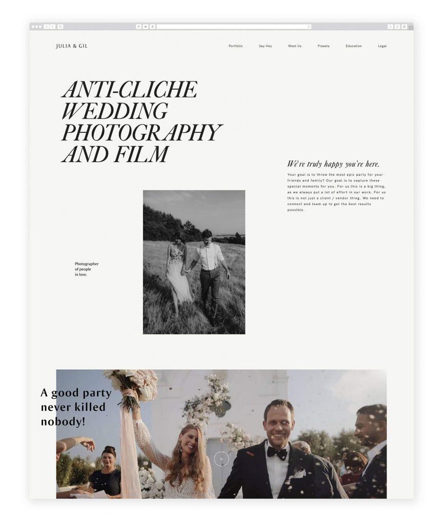 German Photographers websites julia & gil destination weddings