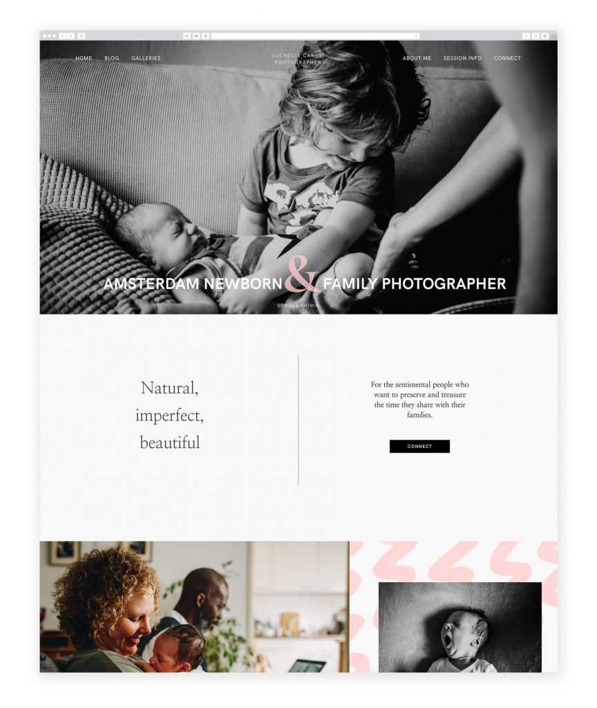 Lucrecia Carosi family photography website