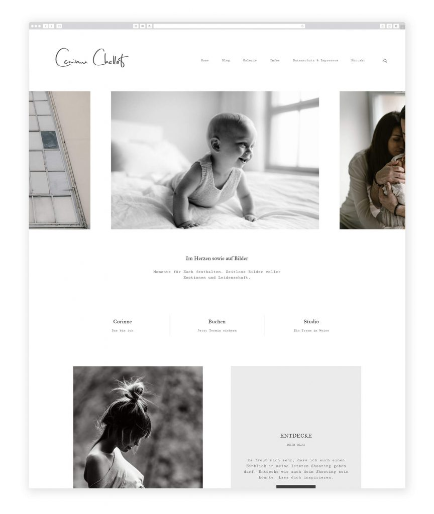 Corinne Chollet family photography website
