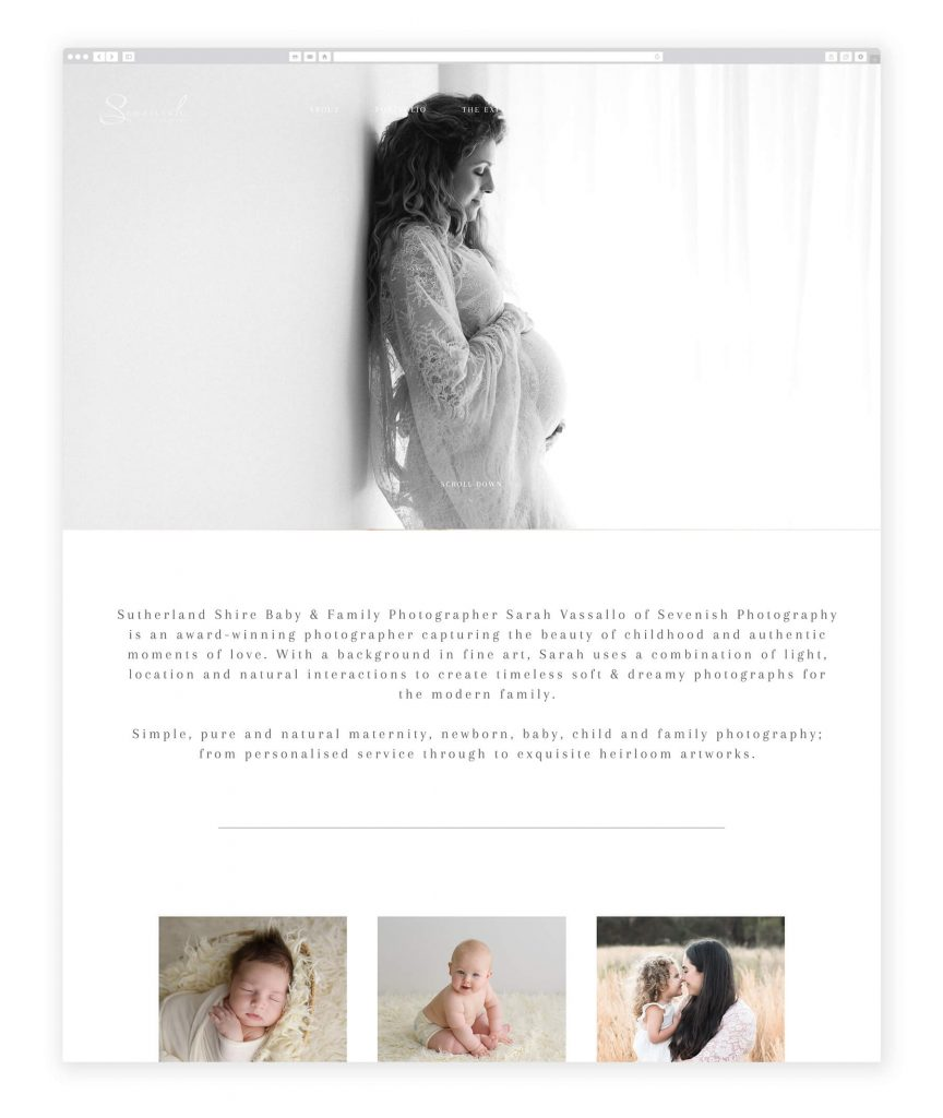 Sevenish photography family photography website